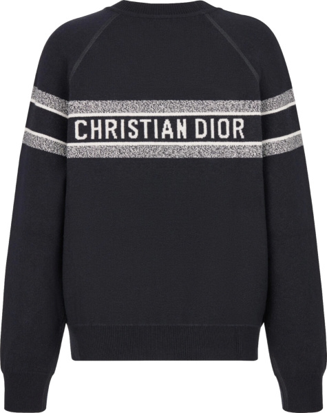 Dior Navy Blue And Oblique Reverisble Sweater