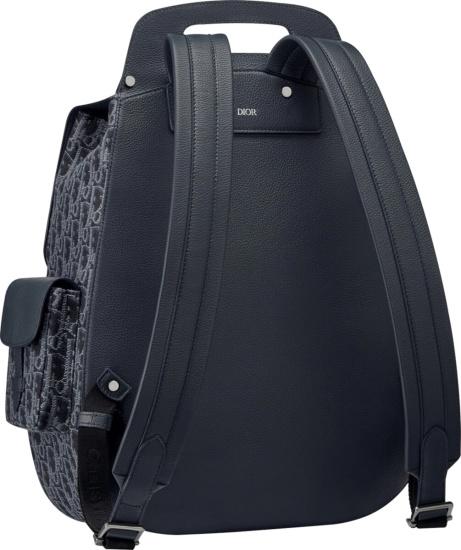 Dior Navy Blue Oblique Backpack