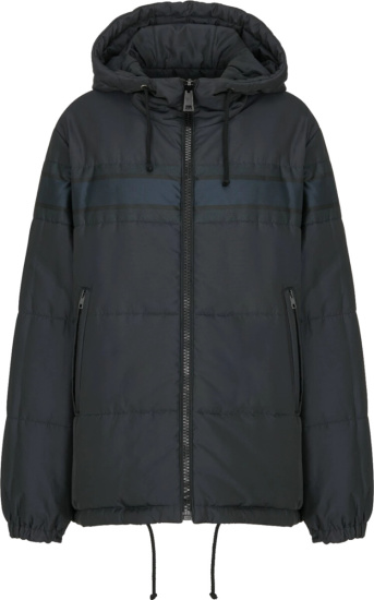 Dior Navy Striped Puffer Jacket