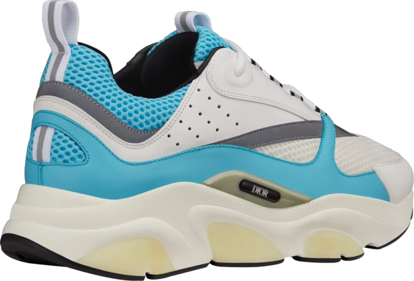 Dior Neon Blue And White B22 Sneakers