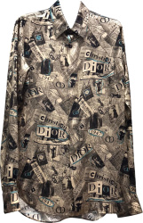 Dior Newspaper Collage Print Shirt