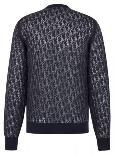 Dior Oblique Devore Effect Wool Sweater Worn By Rich The Kid In For Keeps Music Video