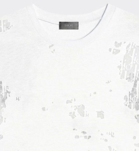 Dior Oblique Devore Shirt In White Worn By Lil Baby