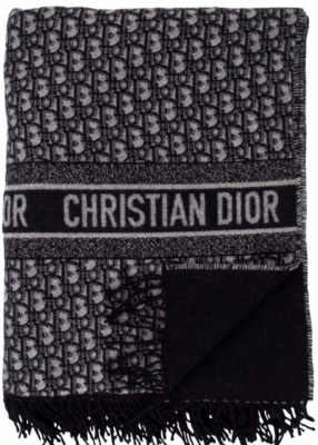Dior Oblique Navy Throw Blanket