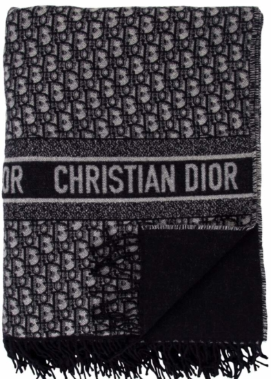 Dior Oblique Navy Throw Blanket