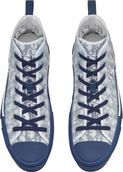 Dior Oblique Whtie And Navy Sneakers