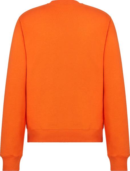 Dior Orange Cd Icon Logo Embroidered Sweatshirt