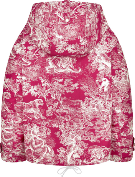 Dior Pink And White Toile De Jouy Print Anorak Jacket