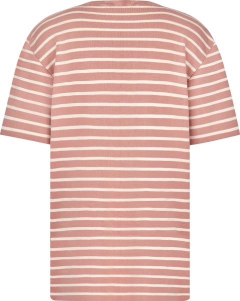 Dior Pink And White Striped T Shirt