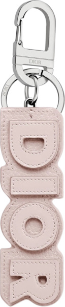 Dior Pink Leather Keyring