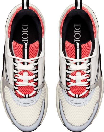 Dior Pink White B22 Mesh Calfskin Sneakers