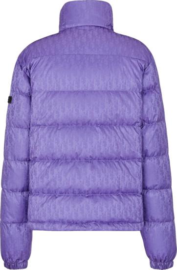 Dior Purple Oblique Puffer Jacket