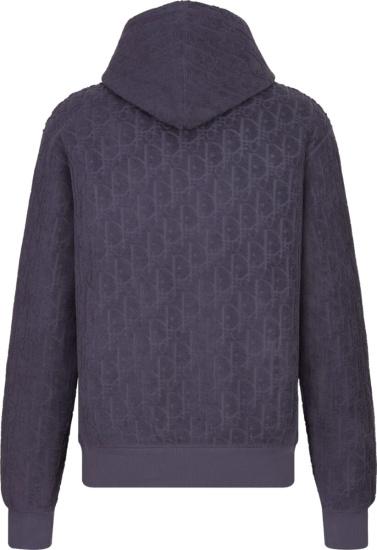 Dior Purple Oblique Terry Hoodie