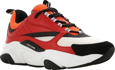 Dior Red And Orange B22 Sneakers