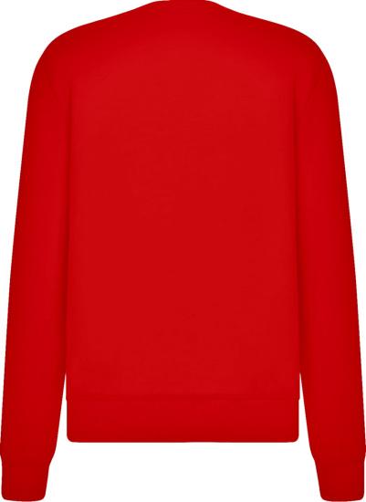 Dior Red Cd Icon Crewneck Sweatshirt