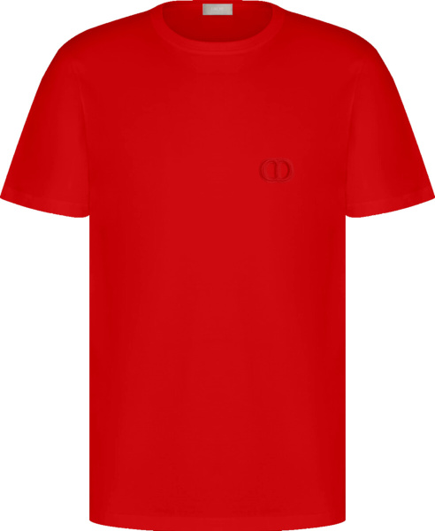 Dior Red Cd Icon T Shirt