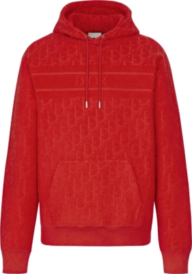 Dior Red Dior Oblique Hoodie