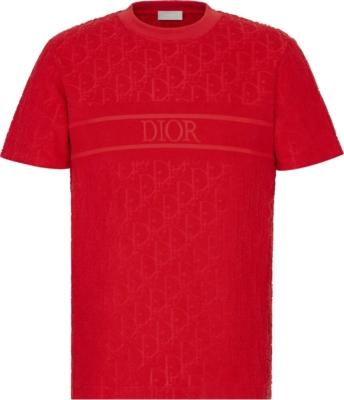 Dior Red Oblique T Shirt