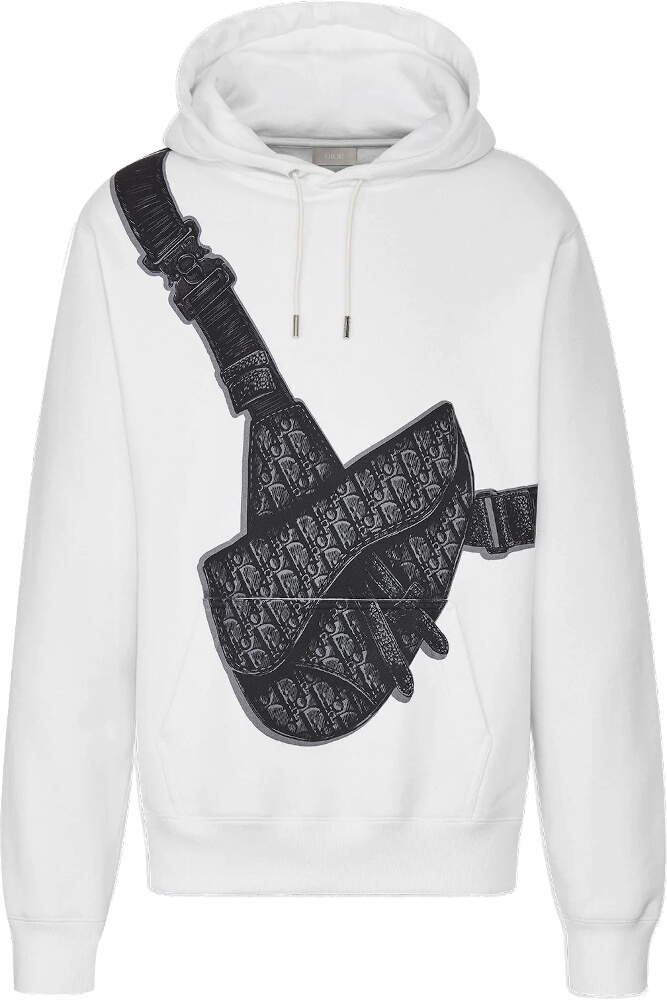 Dior Saddle Bag Print White Hoodie