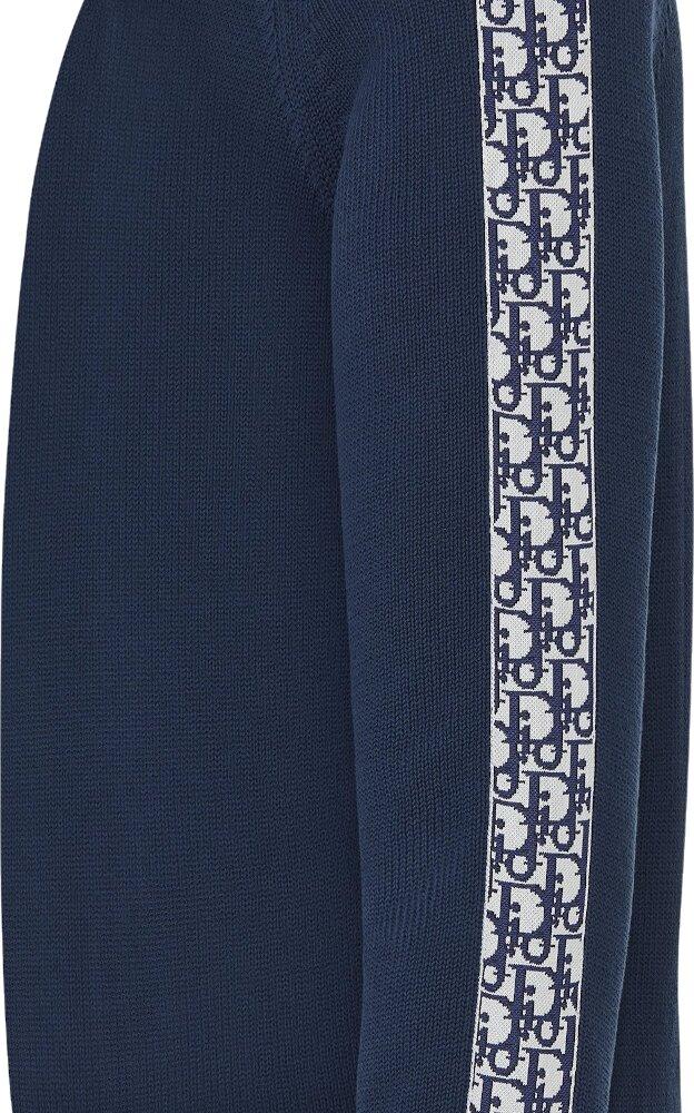 'Dior Oblique' Stripe Blue Sweater
