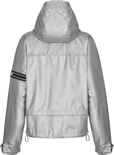 Dior Silver Hooded Shell Jacket