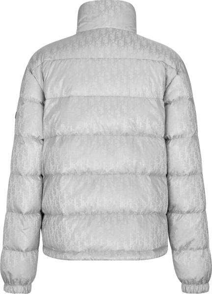 Dior Silver Oblique Puffer Jacket