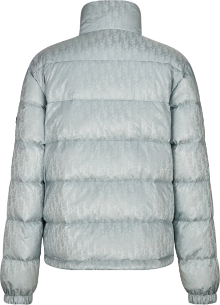 Dior Silver Oblique Puffer Jacket