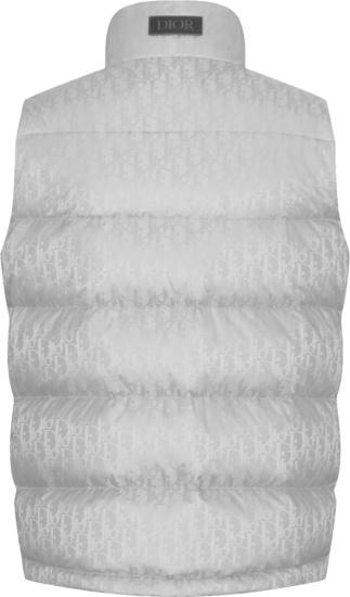 Dior Silver Oblique Puffer Vest