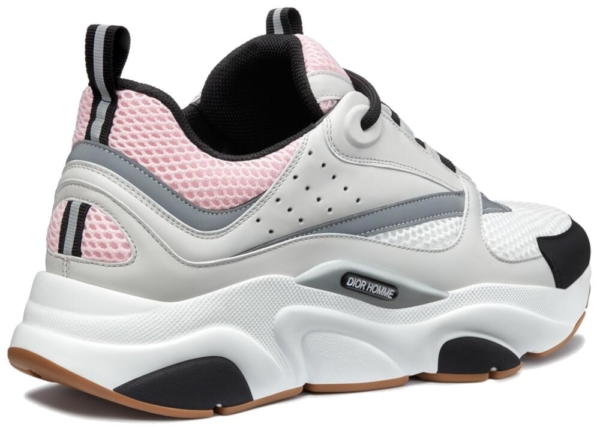 Dior Sneakers In Pink And Light Grey With Gum Soles