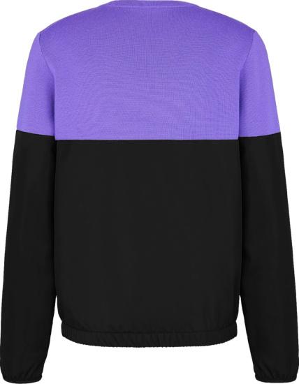 Dior Split Purple And Black Cd Sweater