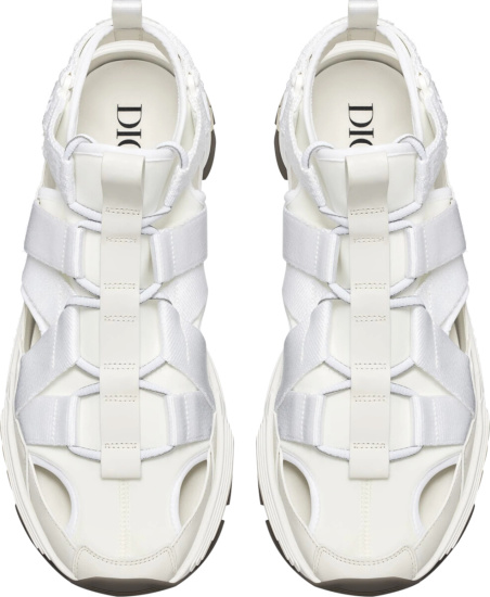 Dior White White Technical Fabric Cd1 Sneakers