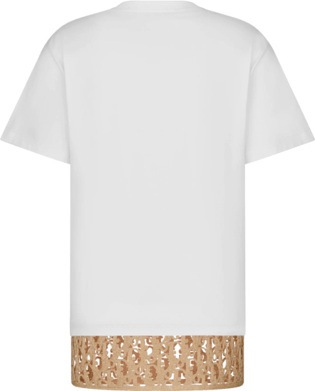 Dior White And Beige Oblique Layered Oversized T Shirt