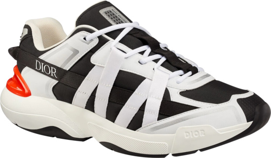 Dior White And Black B24 Sneakers