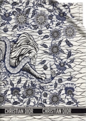 Dior White And Blue Wild Stole