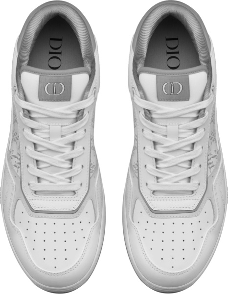 Dior White And Grey Galaxy Oblique Low Top 27 Sneakers