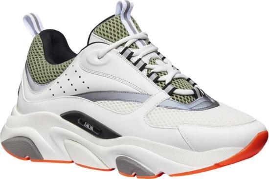 Dior White And Khaki B22 Sneaker