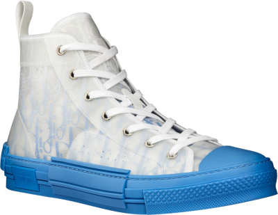 Dior White And Light Blue B23 Sneakers