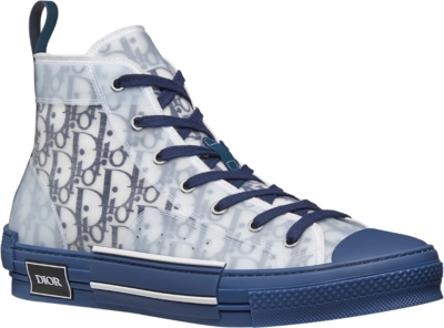 Dior White And Navy B23 Sneakers