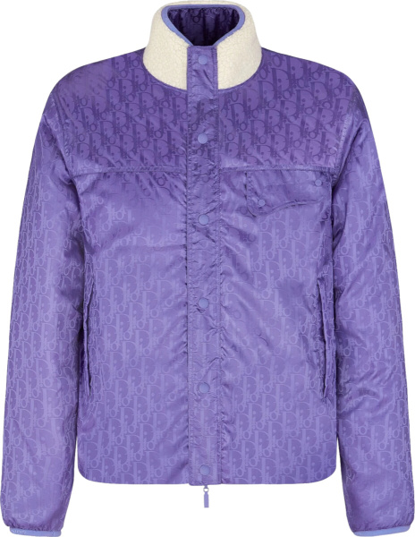 Dior White And Purple Ski Capsule Collection Jacket