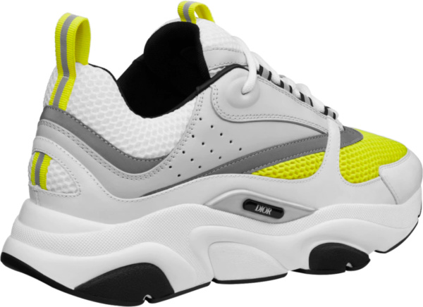 Dior White And Yellow B22 Sneakers