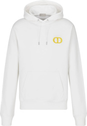 White & Yellow 'CD Icon' Hoodie