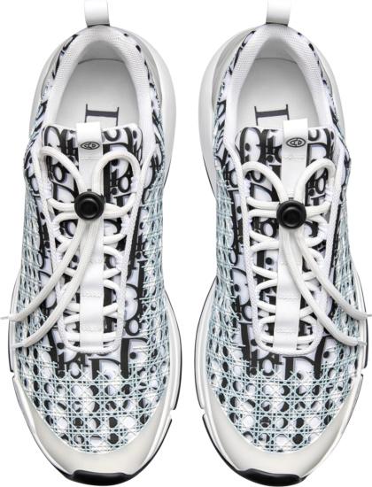 Dior White Black Oblique B24 Sneakers
