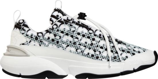 Dior White Black Oblique Sneakers
