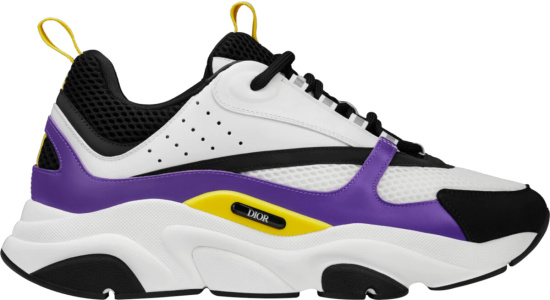 Dior White Black Purple Yellow B22 Sneakers