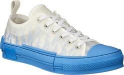 White & Blue Gradient 'B23' Sneakers