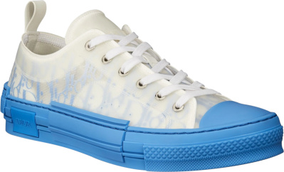 Dior White Blue Gradient B23 Sneakers