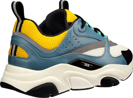Dior White Blue Yellow B22 Sneakers