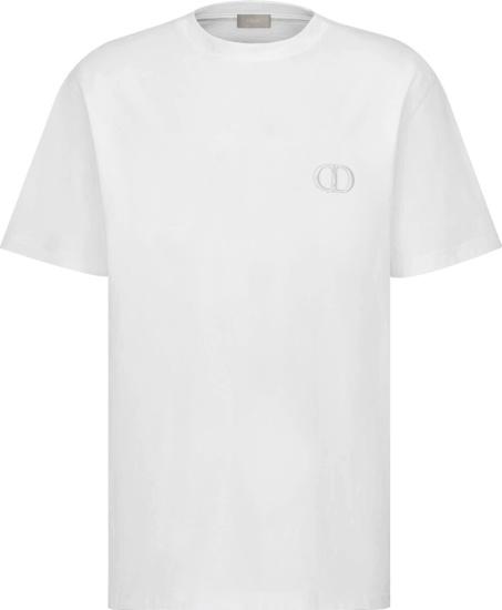 Dior White Cd Icon T Shirt 013j600a0589 C080