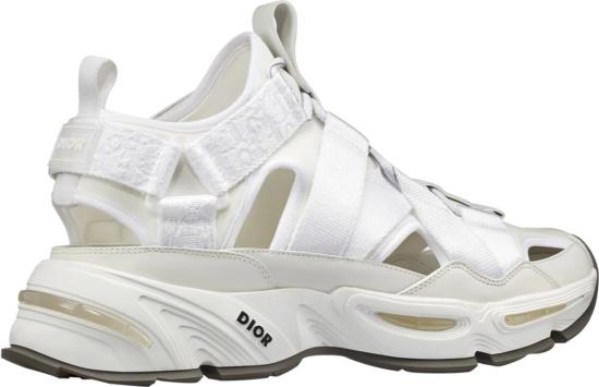 Dior White Cd1 Sandals