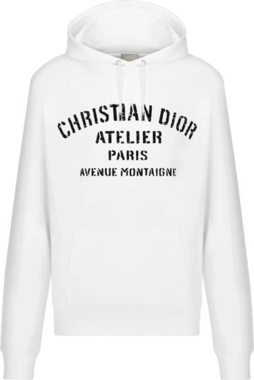 Dior White Christian Dior Atelier Hoodie